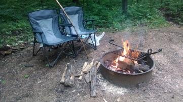 A campfire, a weiner, and thou.