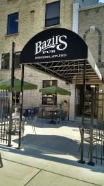 Bazil's back door and patio.