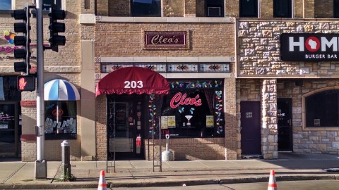 Cleo's door from afar.