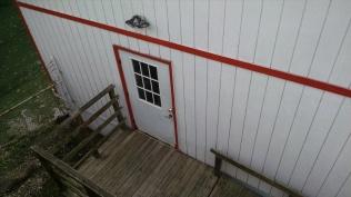 Side door to the Indian Crossing Casino.