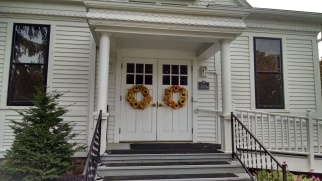 Front doors to the chapel at the Veteran's Home in King. King is only two miles from my hometown, close enough to bike to a friend's house every summer.