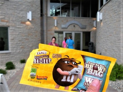 Once the peanut M&M's are gone, the next step is entering the door of a winery.