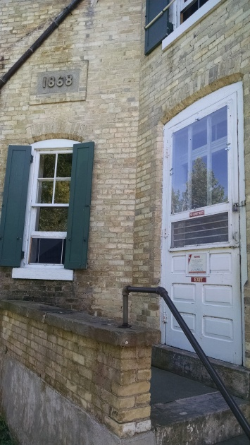 Side door to Eagle Bluff Lighthouse