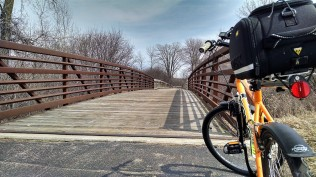 The wooden bridge is a favorite part of the trail. It's always inviting.