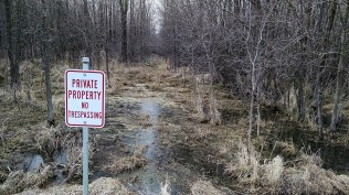 I don't think you have to worry about trespassers unless someone feels the urge to try out their new hip boots.
