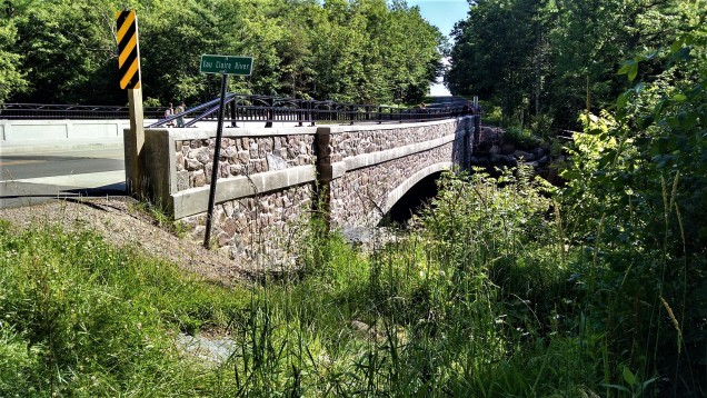 This bridge was re-done last year, but they kept the original stone.