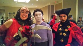 K'Ehleyr (mother of Worf's son), Data and Q.