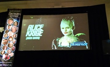 The Borg Queen was at the convention, but we skipped her presentation.