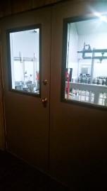 Doors to where the beer magic happens.