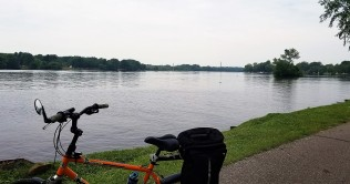 Biking along the Wisconsin River.