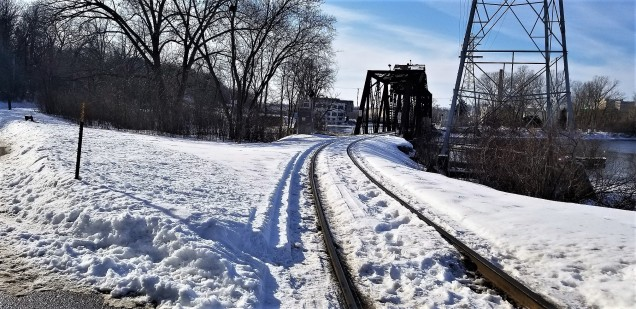 Yes, Dan Antion, functional railroad tracks and a very old bridge.